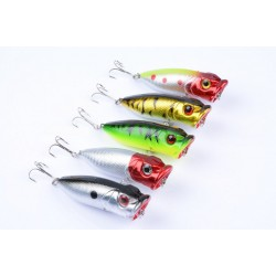 5X 6.5cm Popper Poppers Fishing Lure Lures Surface Tackle Fresh Saltwater