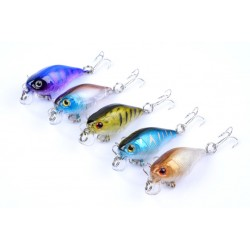 5x 4.3cm Popper Crank Bait Fishing Lure Lures Surface Tackle Saltwater