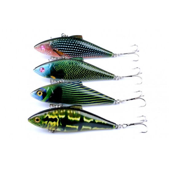 4x 8.5cm Vib Bait Fishing Lure Lures Hook Tackle Saltwater