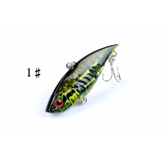 6x 6.5cm Vib Bait Fishing Lure Lures Hook Tackle Saltwater