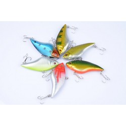 6x 7cm Vib Bait Fishing Lure Lures Hook Tackle Saltwater