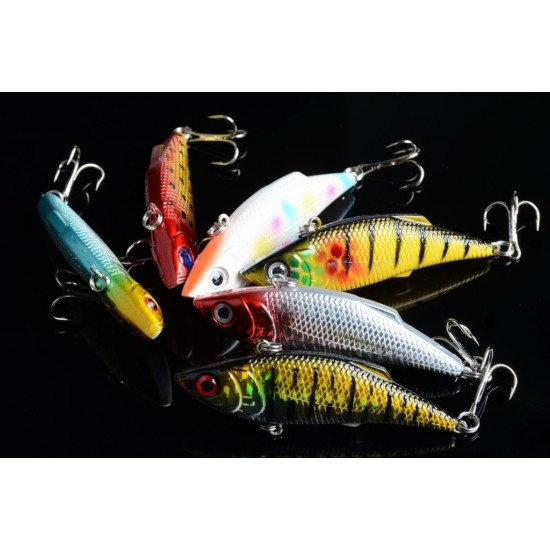 6x 8cm Vib Bait Fishing Lure Lures Hook Tackle Saltwater