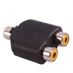 RCA Female to 2X RCA Female Audio Video Splitter Adapter Connector Coupler