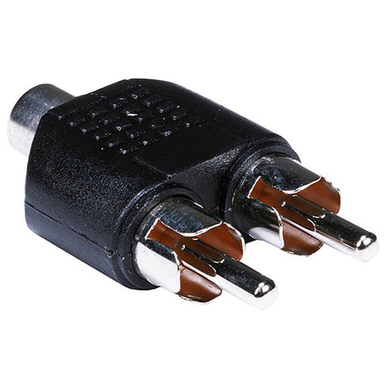 RCA Female to 2X RCA male Audio Video Splitter Adapter Connector Coupler