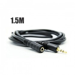 "1.5m 1/8"" Stereo Audio Headphone Extension Cable 3.5mm Male to 3.mm Female M/F"
