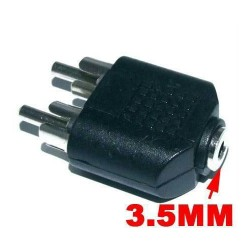 3.5mm 3.5 MM Stereo Female To 2 Rca 2rca Male Adapter Connector