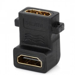 Right Angle 90 degree HDMI Female to HDMI Female Adapter Converter Joiner 1080p