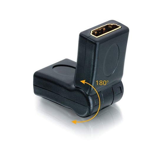 HDMI Right Angle Adapter Converter Plug Female to Female 180 Degree Swiveling