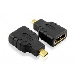 HD Micro HDMI Male / HDMI Female Adapter Connector joiner convertor Gold plated