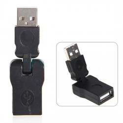 180 degree Adjustable Swivel Twist USB Male to Female Cable Convertor adapter
