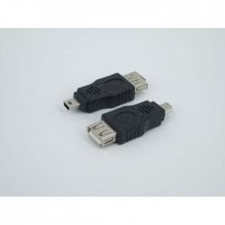 USB 2.0 A Female to Mini USB B 5 Pin Male Adapter Converter