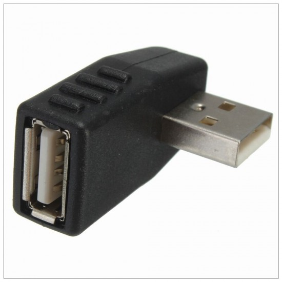 90 Degree Left Or Right Direction Angled USB 2.0 Male to Female Extension Adapter
