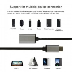 USB-C 3.1 Type C OTG Male to USB 3.0 Adapter Charger Data Cable Macbook Samsung