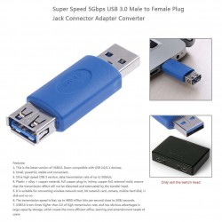 USB 3.0 Male to USB3.0 Female Plug Multi-function Connector Adapter Converter