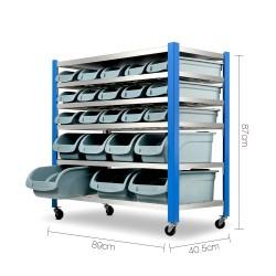 Giantz 22 Storage Bin Rack Stand