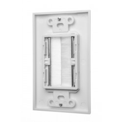 Brush Wall Plate Wires Cable Access Strap Management Socket Mount Port HDMI