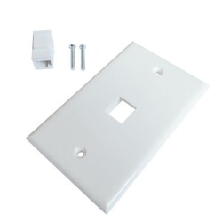 Ethernet Wall Plate 1 Port Cat6 Ethernet Cable Wall Plate Adapter