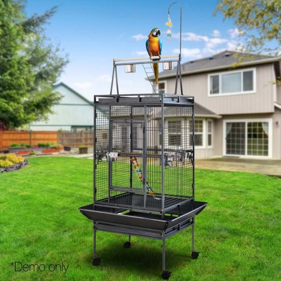 i.Pet Pet Bird Cage with Perch - Black