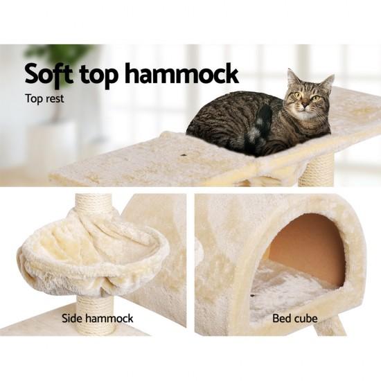 i.Pet 100cm Multi Level Cat Scratching Post - Beige