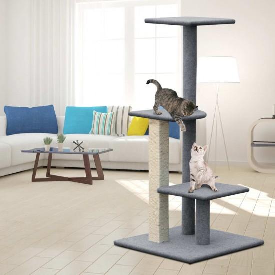 i.Pet 124cm Cat Scratching Post - Grey