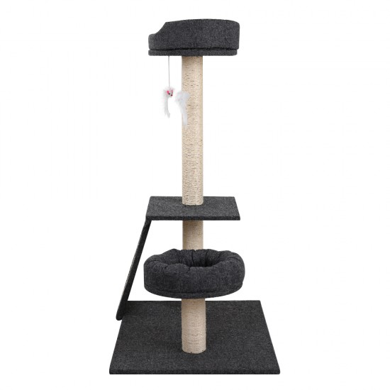i.Pet 102cm Multi Level Cat Scratching Tree Post - Grey