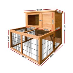 i.Pet 100cm Tall Wooden Pet Coop