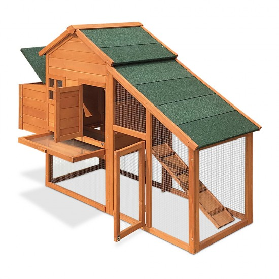 i.Pet 171cm Wide Wooden Chicken Coop