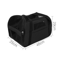 i.Pet Extra Large Portable Pet Carrier - Black
