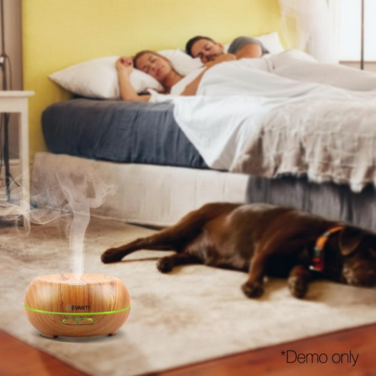 200ml 4 in 1 Aroma Diffuser - Light Wood