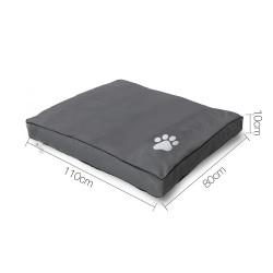 i.Pet Extra Extra Large Washable Canvas Pet Bed - Grey