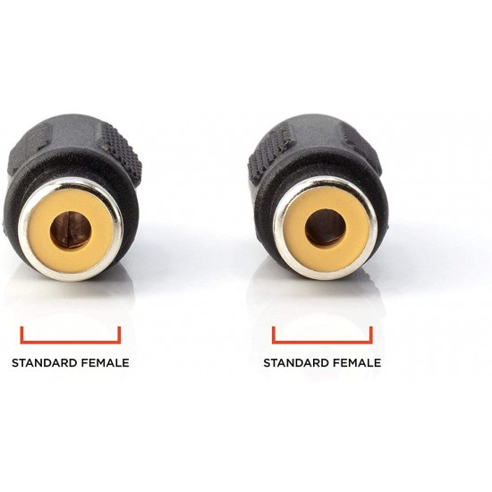 2x RCA Adapter Female to Female Coupler Extender Audio Video RCA Connectors
