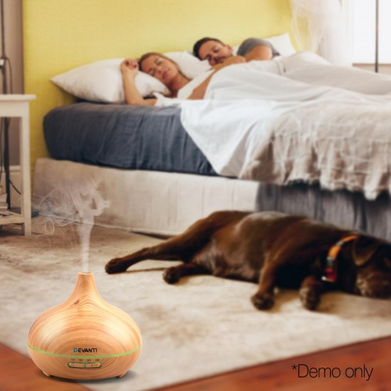 300ml 4 in 1 Aroma Diffuser - Light Wood