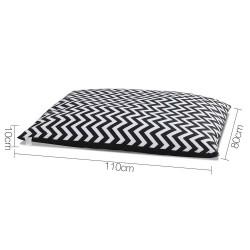 i.Pet Extra Extra Large Canvas Pet Bed - Black & White