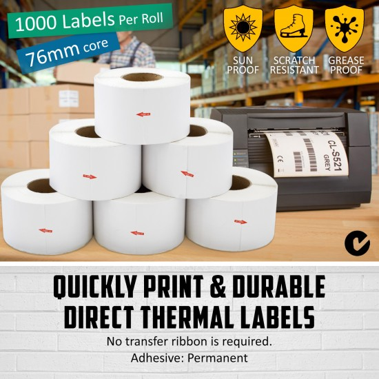 100x150mm Direct Thermal Shipping Label for Fastway Startrack eParcel Etc