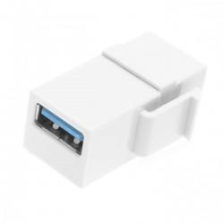 Keystone Jack-USB 3.0 A Female to A Female Coupler Adapter wall plate