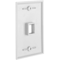 1 Port QuickPort outlet Wall Plate face plate, Single Gang White
