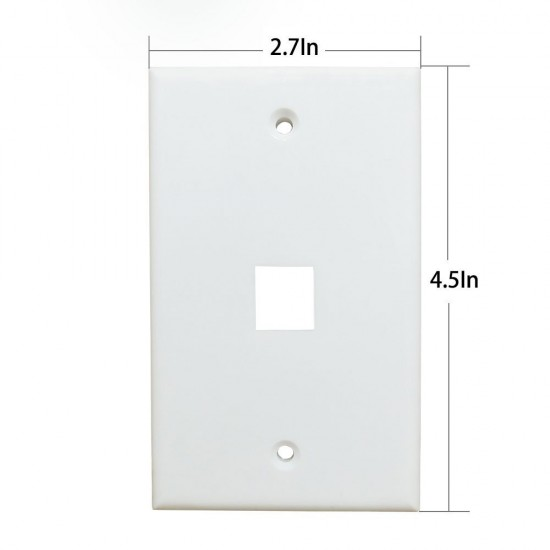 1 Port Cat6 Ethernet Wall Plate Ethernet Cable Wall Plate Adapter