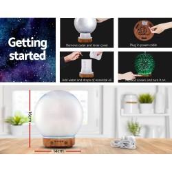 Aromatherapy Diffuser Aroma Humidifier Ultrasonic 3D Firework Light Oil