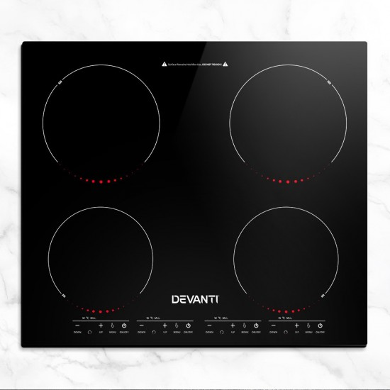 Induction Cooktop 60cm Portable Electric Ceramic Cooker 4 Burner Stove