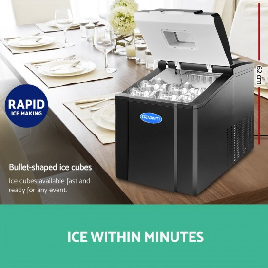 Portable Ice Cube Maker - Black