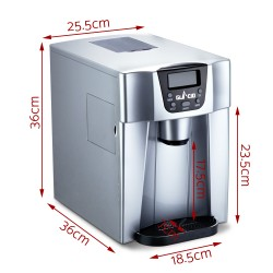 2L Portable Ice Cuber Maker Water Dispenser - Silver