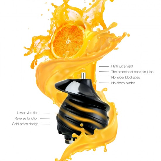 High Yield Cold Press Slow Juicer - Black