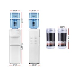 22L Water Cooler Dispenser Hot Cold Taps Purifier Filter Replacement