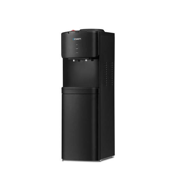 Water Cooler Dispenser Mains Bottle Stand Hot Cold Tap Office Black