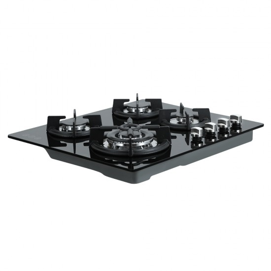 Gas Cooktop 60cm 4 Burner Ceramic Glass Cook Top Stove Hob Cooker LPG NG Black