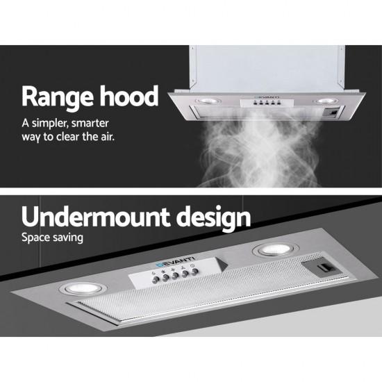 Range Hood Rangehood Undermount Built In Stainless Steel Canopy 52cm 520mm