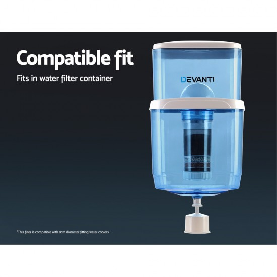 Water Cooler Dispenser Tap Water Filter Purifier 6-Stage Filtration Carbon Mineral Cartridge Pack of 3