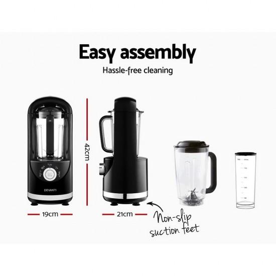 Vacuum Blender Commercial Juicer Mixer Food Processor Smoothie Black