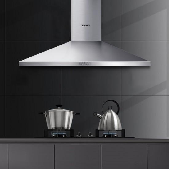 Range Hood 90cm 900mm Kitchen Canopy Stainless Steel Rangehood Wall Mount