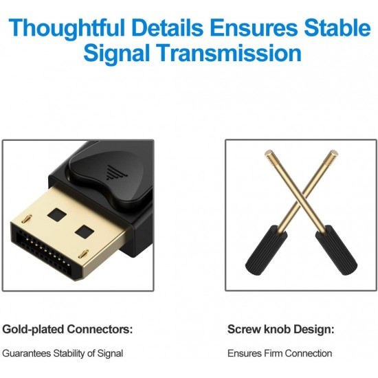 6ft 1.8M Display Port DP To DVI-D Dual Link 24+1Pin Male Gold Connection Cable